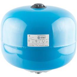 Расширительный бак, гидроаккумулятор 24 л. вертикальный (цвет синий) Stout