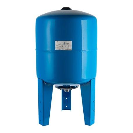 Расширительный бак, гидроаккумулятор 50 л. вертикальный (цвет синий) Stout