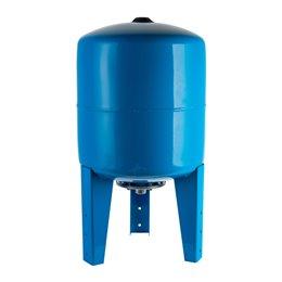 Расширительный бак, гидроаккумулятор 100 л. вертикальный (цвет синий) Stout