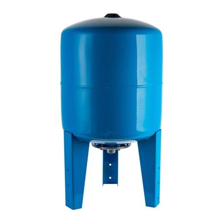 Расширительный бак, гидроаккумулятор 150 л. вертикальный (цвет синий) Stout