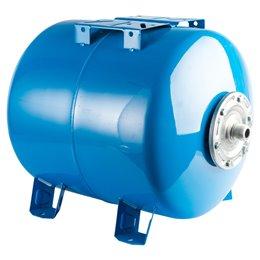 Расширительный бак, гидроаккумулятор 80 л. горизонтальный (цвет синий) Stout