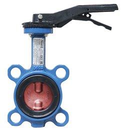 Затвор дисковый поворотный чугун Ду 450 Ру10 межфл с редуктором диск чугун манжета EPDM HT Tecofi VP4408-08EP0450