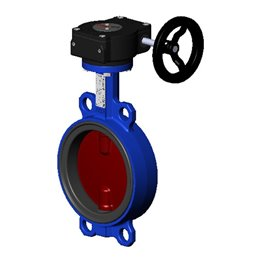 Затвор дисковый поворотный чугун Ду 300 Ру16 межфл с рукояткой диск чугун манжета EPDM Tecofi VPI4448-02EP0300