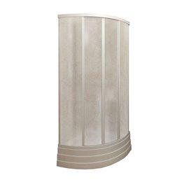 Кабина душевая пл/стекло 2-х стенная полукруглая 900х900мм белый без поддона МетаКам
