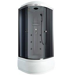 Кабина душевая тонир/стекло 900х900мм белый выс/поддон массаж, в комплекте смеситель AS-103G Arcus