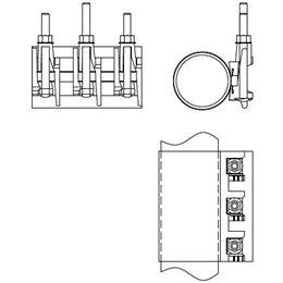 Муфта ремонтная двухсоставная чугунная Ду300 (320-328)