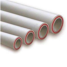 Труба PP-R серая арм стекловолокном Дн 20х3,4 Ру25 SDR6 Т95С L4м VALFEX 10106020Г