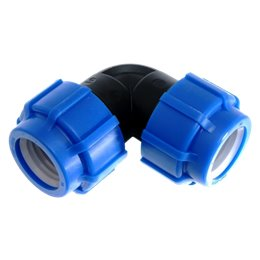Отвод ПЭ Дн 20х90гр напорный компрессионный ТПК-АКВА 50040020