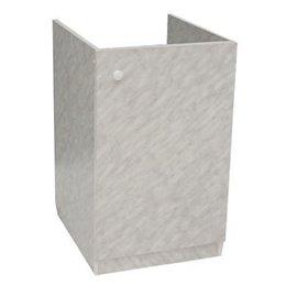 Подстолье для мойки 800х600 белый мрамор 2 двери в комплекте ЛесМаркет