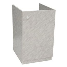 Подстолье для мойки 500х500 белый мрамор в комплекте ЛесМаркет