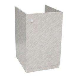 Подстолье для мойки 600х600 белый мрамор в комплекте ЛесМаркет
