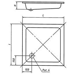 Поддон чугунный эмалированный мелкий ПДЧМ-800