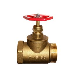Клапан запорный латунь 15б1р Ду 50 Ру16 ВР/НР прямой ТУ РБ 500059277.015-2000 Цветлит