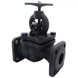 Клапан запорный чугун 15кч16п Ду 50 Ру25 Тмакс225 оС фл со штурвалом Луидор