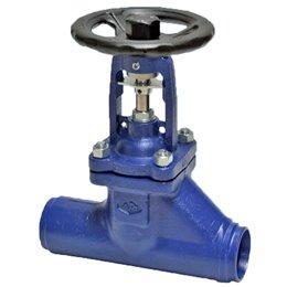 Клапан запорный ARI-FABA Plus 45.040 DN15 PN40, сильф.упл., под приварку, литая сталь, прямой шток, -60…+450C
