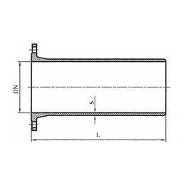 Патрубок фланец-гладкий конец L350мм ПФГ ВЧШГ с ЦПП Ду 500