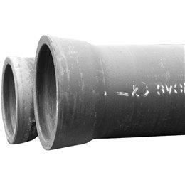 Труба чугунная ВЧШГ Тайтон Ду 80 нап L6м раструбная с ЦПП б/к с наружным лаковым покрытием Свободный Сокол