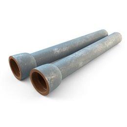 Труба чугунная ВЧШГ оц Тайтон Ду 300 нап L6м раструбная с ЦПП б/к с наружным цинковым и лаковым покрытием Свободный Сокол