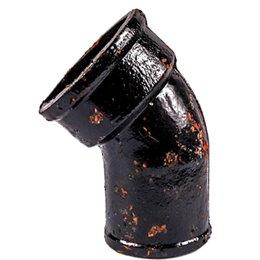 Отвод чугунный канализационный Ду 50х135гр б/н ГОСТ 6942-98 Кронтиф