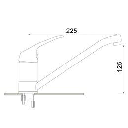 Смеситель для кухонной мойки серия Престиж ЦС-СМ 27г М-42 одноручный Гидрозатвор ПП800803