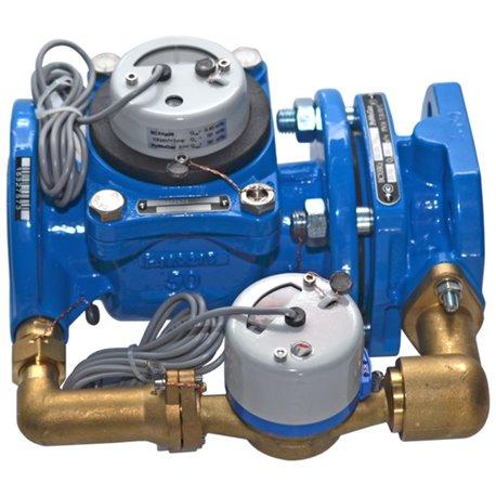 Счётчик х/в комбинированный (крыльчатый и турбинный) ВСХНКд Ду 80/20 Ру16 50С L300мм фл импульсный Тепловодомер