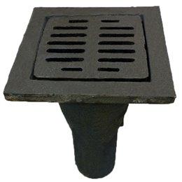 Трап чугунный с вертикальным выпуском квадратный Ду 100 ГОСТ 1811-97