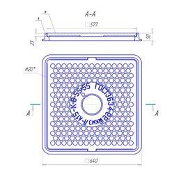 Люк чугунный лёгкий Л (А15)-8-55x55