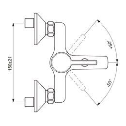 Смеситель для ванны с душем серия LOGIK одноручный Vidima BA279AA