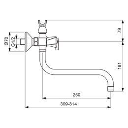 Смеситель для ванны с душем серия LIFE двуручный Vidima BA362AA