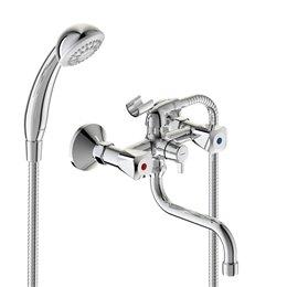 Смеситель для ванны с душем серия PRACTIC двуручный Vidima BA341AA