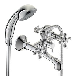 Смеситель для ванны с душем серия RETRO двуручный Vidima BA355AA