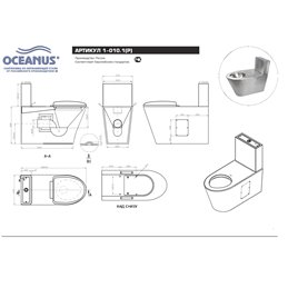 Унитаз-компакт антивандальный Oceanus 1-010.1(P/S)