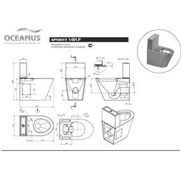 Унитаз-компакт антивандальный Oceanus 1-001.2 (P/S)