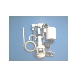 Арматура к керамическим смывным бачкам с боковым подводом воды,универсальная,штоковая белый пластик АБ66.03.14.0