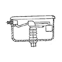 Бачок смывной высокорасположенный пластиковый в комплекте с запорной арматурой