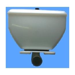Бачок  низкорасположенный пластиковый в комплекте с полочкой и запорной арматурой