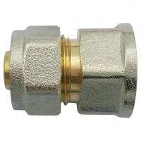 соединитель для металлопластиковых труб обжимной компресс-муфта aquasfera