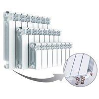 Биметаллические секционные радиаторы Rifar Base Ventil c нижним подключением