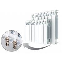 Радиаторы алюминиевые Rifar Alum Ventil 500 с нижним правым подключением