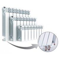 Биметаллические секционные радиаторы Rifar Base Ventil 350 c нижним левым подключением