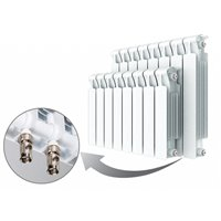 Биметаллический радиатор Rifar Monolit Ventil 500 с нижним правым подключением