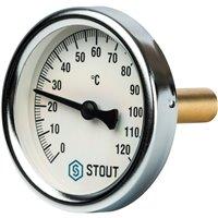 Термометр биметаллический с погружной гильзой Stout
