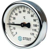 Термометр биметаллический накладной с пружиной Stout