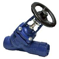 Клапан запорный сталь под приварку сильфонный наклонный шток ARI-FABA Plus 35.066